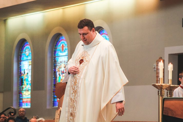 Father Steven Huber, CSB celebrates his first Mass