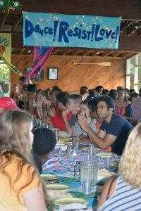 Meal time at Camp Micah