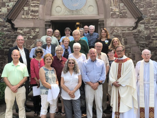 Attendees of Mass on the Anniversary of Fr. Joe's Death
